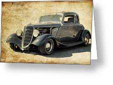 1934 Ford Five Window Coupe Greeting Card