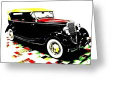 1934 Ford Phaeton V8  Greeting Card