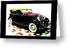 1934 Ford Phaeton V8  Greeting Card