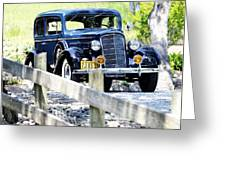 1934 Oldsmobile Touring Coupe 2 Greeting Card