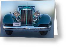 1934 Packard Super 8 Greeting Card