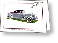 1934 Packard Twelve 1107 Coupe Greeting Card