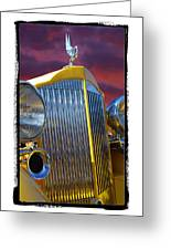 1934 Packard With  Brush Frame Greeting Card