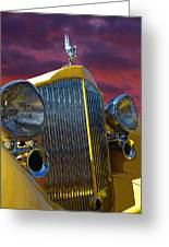 1934 Packard With Posterized Edge Texture Greeting Card