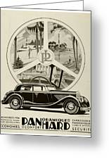 1935 - Panhard Panoramique French Automobile Advertisement Greeting Card