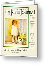 1935 - The National Farm Journal Magazine Cover April - Color Greeting Card