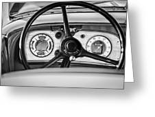 1935 Auburn 851 Supercharged Boattail Speedster Steering Wheel -0862bw Greeting Card
