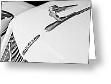 1935 Auburn Boattail Speedster Hood Ornament Greeting Card
