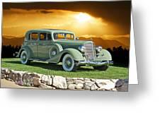 1935 Buick 61 Sedan Greeting Card