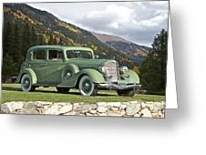 1935 Buick Club Sedan Greeting Card