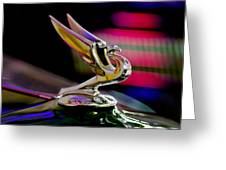 1935 Chevrolet Hood Ornament 2 Greeting Card