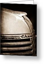 1935 Chevrolet Hood Ornament - Emblem Greeting Card