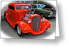 1935 Chevy Coupe Greeting Card