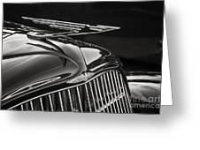 1935 Duesenberg Hood Ornament Greeting Card