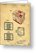 1935 Kodak Camera Casing Patent Greeting Card