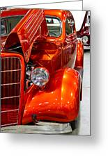 1935 Orange Ford-front View Greeting Card