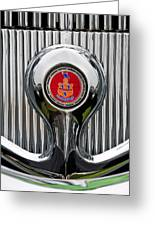 1935 Pierce-arrow 845 Coupe Emblem Greeting Card