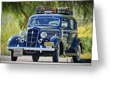 1935 Plymouth Taxi Cab Greeting Card