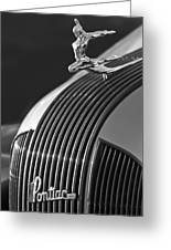 1935 Pontiac Sedan Hood Ornament 3 Greeting Card