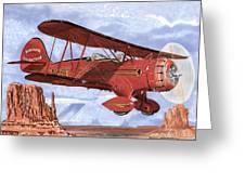Monument Valley Bi-plane Greeting Card
