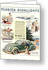 1936 - De Soto Airflow IIi Automobile Advertisement - Color Greeting Card