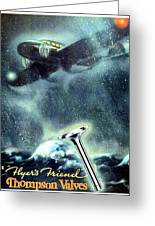 1936 - Thompson Valves Advertisement - Poster - Color Greeting Card