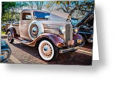 1936 Chevrolet Pick Up Truck Painted    Greeting Card