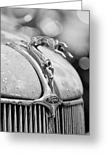 1936 Ford Cabriolet Hood Ornament - Emblem Greeting Card