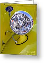 1936 Ford Pickup Headlamp Greeting Card