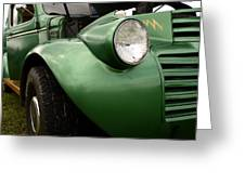 1936 Funeral Truck Headlight Greeting Card