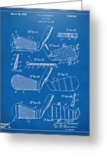 1936 Golf Club Patent Blueprint Greeting Card