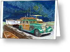 1936 Hispano Suiza Shooting Brake Greeting Card