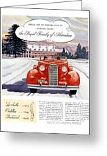 1936 - Lasalle Convertible Automobile Advertisement - Color Greeting Card