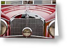 1936 Mercedes-benz 540k Mayfair Special Roadster Grille Greeting Card