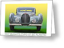 1937 Bugatti 57 S C Atalante Greeting Card