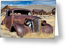 1937 Chevrolet Coupe At Bodie Greeting Card
