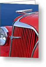 1937 Chevrolet Hood Ornament Greeting Card by Jill Reger