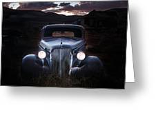1937 Chevy At Dusk Greeting Card