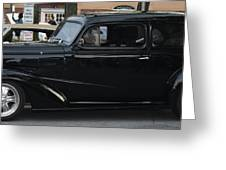1937 Chevy Flameon Greeting Card