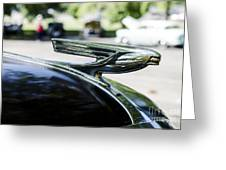 1937 Chevy Hood Ornament Greeting Card