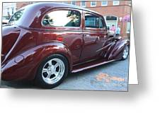 1937 Chevy Two Door Sedan Rear And Side View Greeting Card