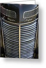 1937 Chrysler Airflow Greeting Card