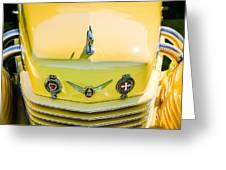 1937 Cord 812 Phaeton Grille Emblems Greeting Card
