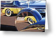 1937 Cord 812 Phaeton Reflected Into Packard Greeting Card