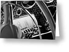 1937 Cord 812 Phaeton Steering Wheel Greeting Card
