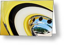 1937 Cord 812 Phaeton Wheel Rim Reflecting Cadillac Greeting Card