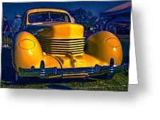 1937 Cord Greeting Card