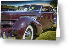 1937 Cord Phaeton Greeting Card