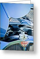 1937 Delahaye 115a Engine Greeting Card