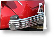 1937 Desoto Chrome Bumper-7249 Greeting Card